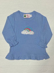 Lily Pads Blue Rainbow w/ Clouds Ruffle Swing Top