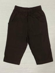 Lily Pads Chocolate Boy Knit Pants with Pockets