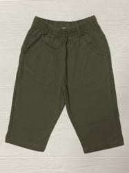 Lily Pads Army Green Boy Knit Pants with Pockets