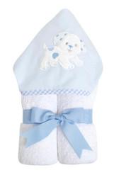 3 Marthas Blue Puppy Everykid Towel