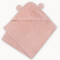 Organic Cotton Hooded Towel- Pink