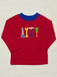 Claire & Charlie Red Tools Tee
