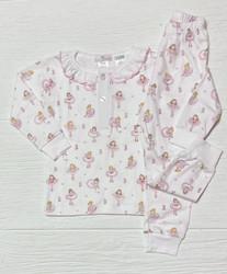 Baby Loren Pink Ballerinas Pima PJ Set