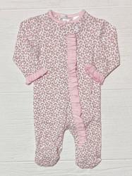 Baby Loren Cheetah Print Pima Zipper Footie