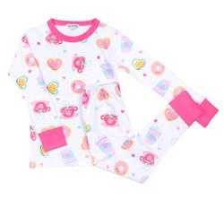 Magnolia Baby Pink Cookies & Cocoa PJ Set