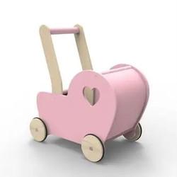 Pink Essential Pram Doll Stroller