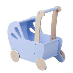Light Blue Pram Doll Stroller