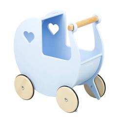 Light Blue Traditional Pram Doll Stroller