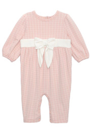 Mabel & Honey Pink Put A Bow on it Knit Romper