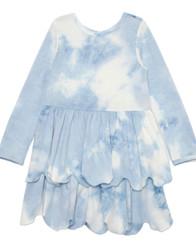 Mabel & Honey Blue Cotton Clouds Knit Dress