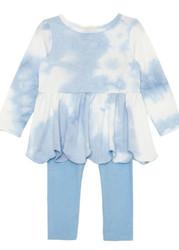 Mabel & Honey Blue Cotton Clouds Knit Set