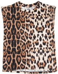Mia Leopard Shoulder Pad Tee