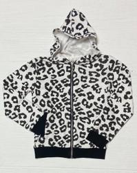Mia White Leopard Hoodie