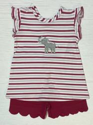 Ishtex Girl Elephant Short Set