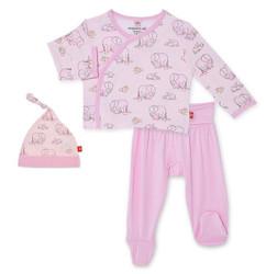 Magnificent Baby Pink Love You A Ton Kimono Set