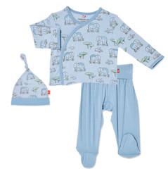 Magnificent Baby Blue Love You A Ton Kimono Set