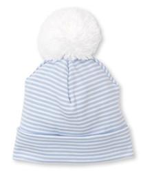 Kissy Kissy Blue Stripe Pom Hat