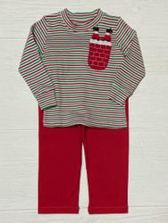 Squiggles Chimney Santa Pocket Applique Pant Set