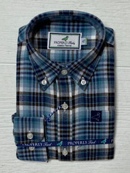 Properly Tied Navy/Chocolate Flannel