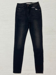 Tractr Black Faded Front Hi-Rise Jean