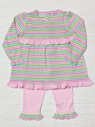 Squiggles Bright Stripe Bubblegum Legging Set
