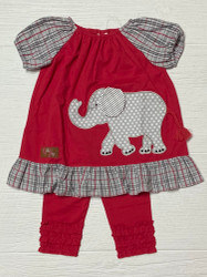 Millie Jay Ellie Elephant Applique Legging Set