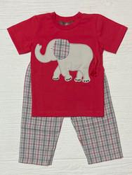 Millie Jay Ellis Elephant Applique Boys Pant Set