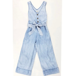 Tractr Chambray Wide Leg Jumper
