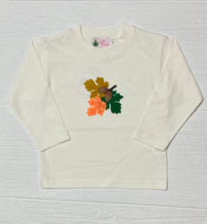 Lily Pads Ivory Leaves with Acorns L/S Tee