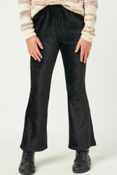 Hayden Black Velour Flair Pants