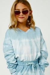 Hayden Blue Tie Dye L/S Top