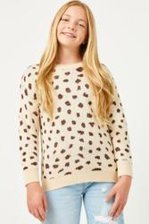 Hayden Beige Dotted Sweater