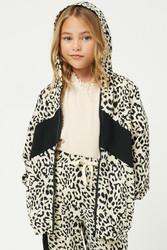 Hayden Black Leopard Zipper Hoodie