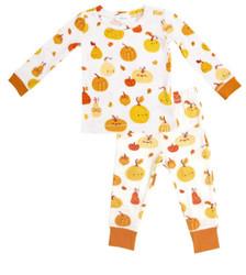 Angel Dear Orange Pumpkins Loungewear Set