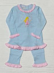 Squiggles Aqua Stripe Ballerina Fairy Pant Set