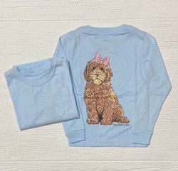 Properly Tied Periwinkle Goldendoodle L/S Tee