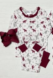 Ishtex Crimson Elephant Girls PJ Set