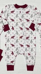 Ishtex Crimson Elephant Zipper Romper