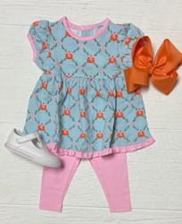 Ishtex Blue Pumpkin Girls Legging Set