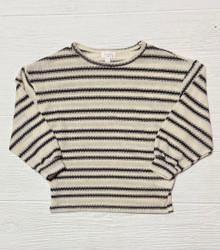 Hayden Black/Oatmeal Stripe Top