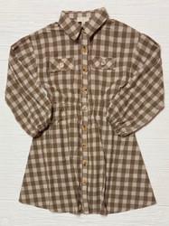 Hayden Brown Gingham Dress