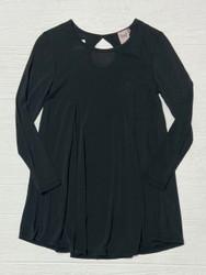 For All Seasons Black L/S Swing Dress
