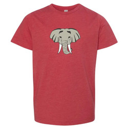 Honey Bee Tees Red Elephant Head Tee