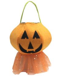 Pippa Girly Pumpkin Trick or Treat Felt Bucket