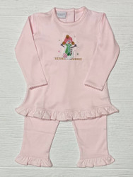Squiggles  Pink Suzy Snow Girl Ruffle Pant Set
