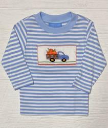 Anavini Blue Stripe Pumpkin Boys Tee