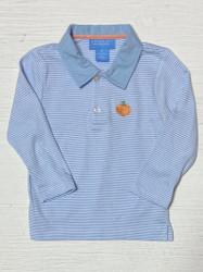 Anavini Blue Stripe Knit Pumpkin Polo