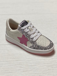 Vintage Havana Camila Pink Glitter Star Sneaker