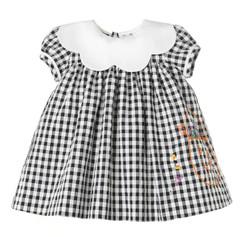 Sophie & Lucas Black Check Trick-Or-Treat Dress
