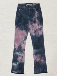 Tractr Blue/Pink Tie Dye Flare Jean